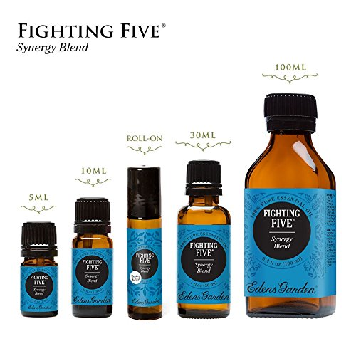 Fighting Five Synergy Blend Essential Oil by Edens Garden, 10 ml