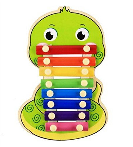 Polymer Musical Toys 8-Tone Chinese Zodiac Infant Child Octave Clappers Piano Percussion(Snake) by Polymer