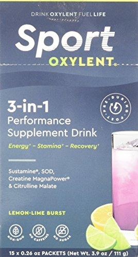 Oxylent Sport Lemon-Lime Burst 3-in-1 Performance Drink, 3.9 (Sports Performance Drink Stick)