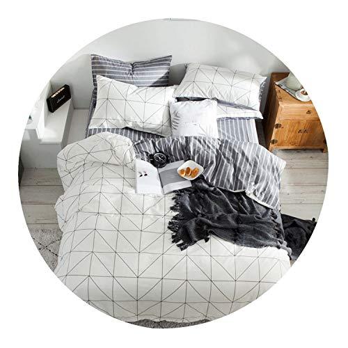 Cotton Bed Fitted Sheet Set 2 Sizes with Duvet Cover Nordic Simple Printed Bedding bedsheet Sets 4pcs sabanas cama matrimonio,08,150cm200cm