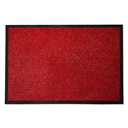 casa pura Entrance Floor Mat, Red, 36'' x 60''   Absorbent, Non-slip, Indoor/Outdoor (Multiple Sizes) by casa pura