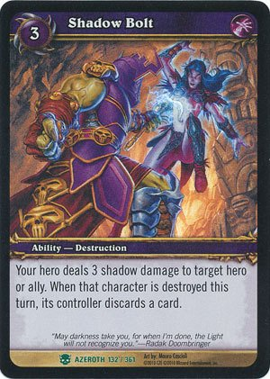 World of Warcraft TCG - Shadow Bolt - Archives Shadow Bolt