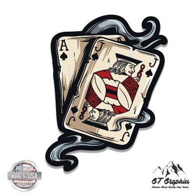Blackjack Cards Casino - Vinyl Sticker Waterproof Decal