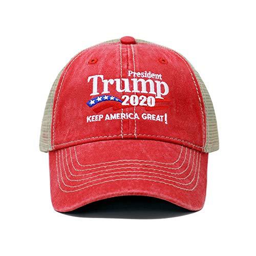 ChoKoLids Trump 2020 Keep America Great Campaign Embroidered US Hat | Baseball Trucker Cap | New TC101 (Trucker Red) (Ebay American Girl)
