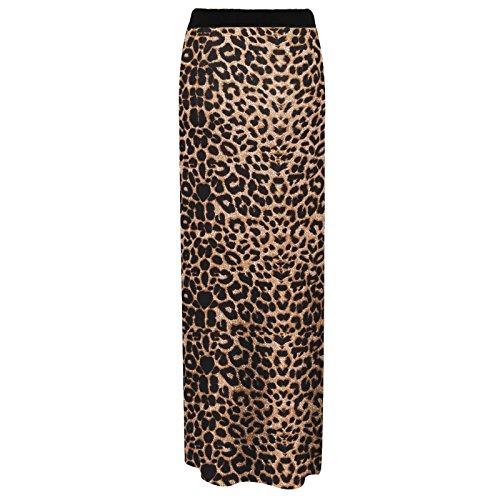 estiva jersey Maxi Print gonna in Leopard gipsy stile in 585wfnxrRq