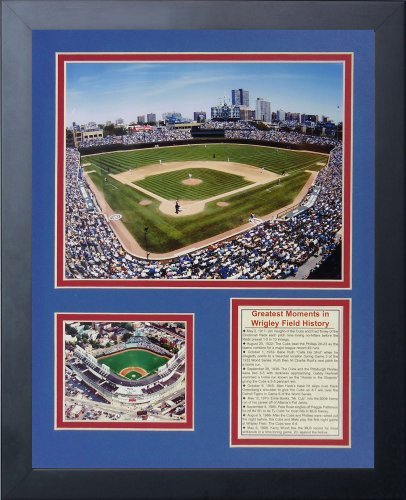 Legends Never Die Wrigley The Field Framed Photo Collage, 11x14-Inch