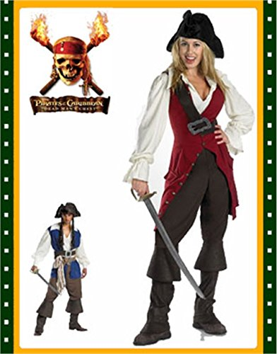 Deluxe Elizabeth Pirate Child Costume - X-Large
