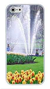 5S Cases, iPhone 5S Protective Case - Beautiful Keukenhof Fountain High Quality PC Plastic Slim Lightweight Hard Case Cover for iPhone 5/5s White