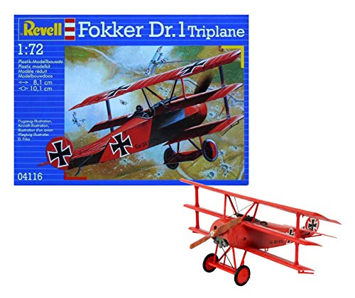 Revell Fokker DR. 1 Triplane 1:72 Assembly kit Fixed-wing aircraft - maquetas de aeronaves (1:72, Assembly kit, Fixed-wing...