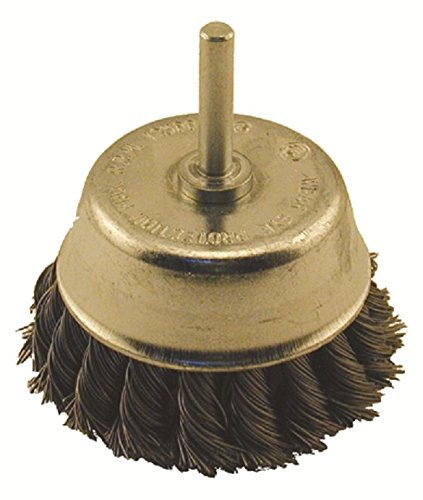 Enkay 1846-C  3-Inch Knotted Cup Brush, 1/4-Inch Shank, Carded