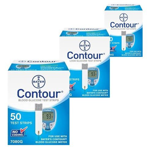 Bayer Ascensia Contour Diabetic Test Strips, Box of 50 by Ascensia (Image #1)
