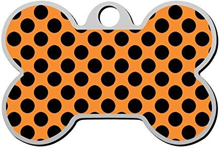 Halloween Point Personalized Pet Id Tag,Cute Bone Dog ID Tag,Pet Identification Tag,Gifts for Pet Lovers -