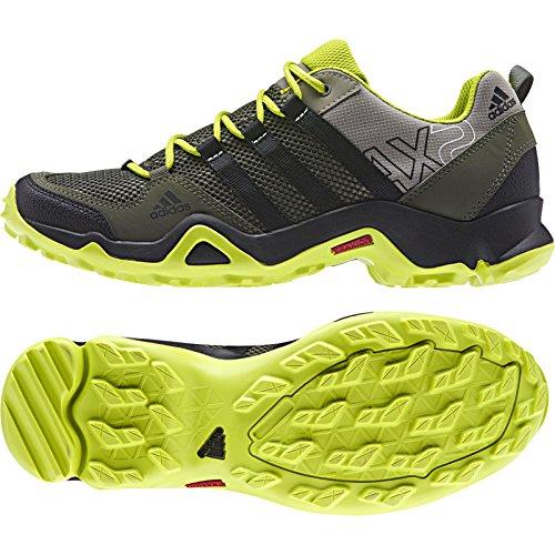 Adidas exterior Ax2 cartón / negro / marrón óxido zapatilla de deporte de 6 B (m) Base Green / Black / Semi Solar Yellow