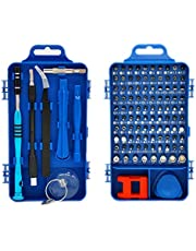 Rimposky 110 in 1 Screwdriver Set,Professional Multi-function Screwdriver Magnetic Repair Tool Kit Compatible with Cell Phone, iPhone, iPad, Watch, PC, Laptop and more.(Blue)