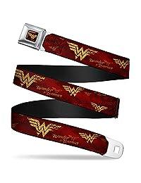 Buckle Down girls Buckle-down Seatbelt Belt Wonder Woman Regular
