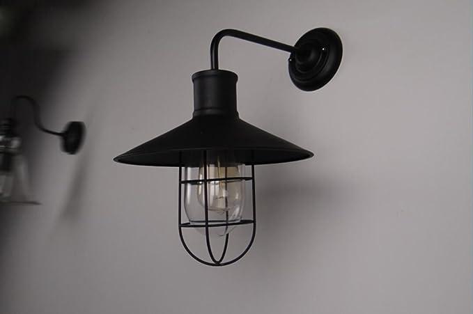 Ferro da stiro art nouveau vetro loft lampade da parete american bar