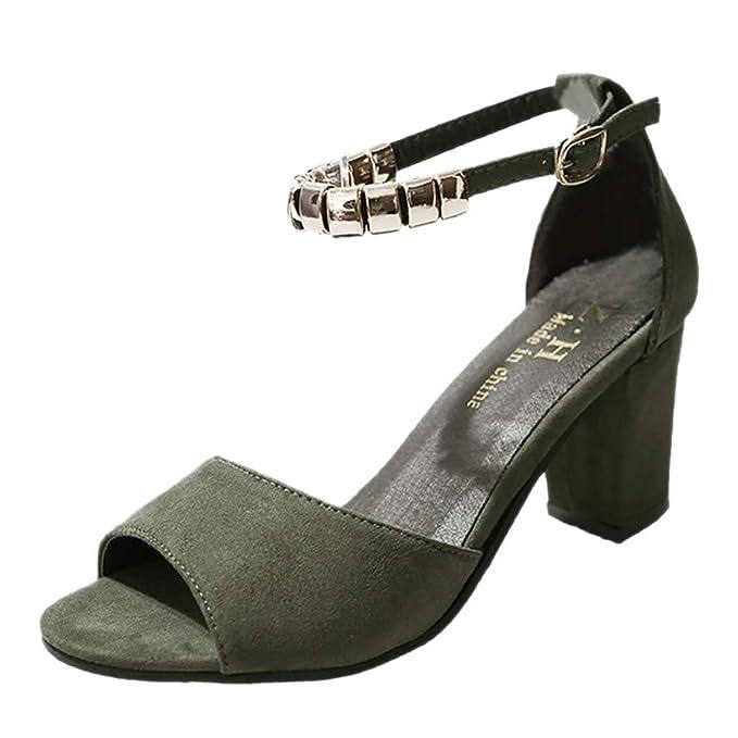 newest a05f0 98666 Schuhe Damen Sommer Sandalen Sandaletten mit Absatz Pumps Damen  Fesselriemen Schuh Sommerschuhe Keilabsatz Abendschuhe Knöchel Platz  Absätze Sandalen