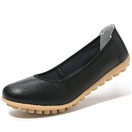 6258f019a5df Image Unavailable. Image not available for. Color  Dreamstar Women Leather  Office Work Shoes Female Flat Shoes Women Flats