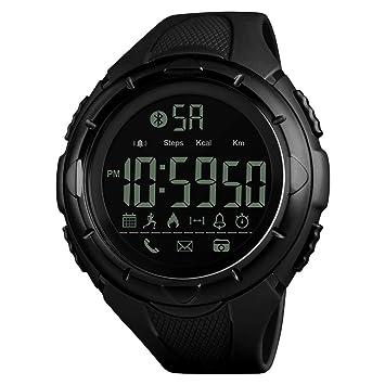 JIHUIA Reloj Deportivo, 50M Impermeable Digital con Alarma/Toma una Foto/Podómetro/