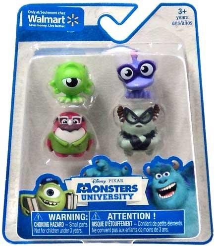 Disney / Pixar Monsters University Exclusive 1 Inch Mini Figure 4-Pack Mike Wazowski, Don Carlton & 2x TBA