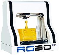 """ROBO 3D R1 Plus+ 10"""" x 9"""" x 8"""" ABS/PLA 3D Printer, White by Robo 3D"""