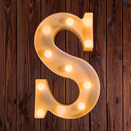 LED Marquee Number Lights Sign Light Up Marquee Letter Lights Sign for Night Light Wedding Birthday Party Battery Powered Christmas Lamp Home Bar Decoration S -
