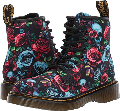 (Dr. Martens Kid's Collection Girl's 1460 Rose Fantasy Boot (Little Kid/Big Kid) Rose Fantasy K T Canvas 3 M)