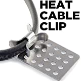 Heat Cable Roof Clip for Securing Ice Dam Heat Tape and Heat Cable to roofs 25 Pack