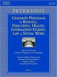 Grad Guides, Peterson's Guides Staff, 0768913934