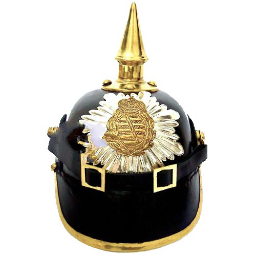 Queen Brass Brass WWIドイツPickelhaube PrussianレザーヘルメットOfficer Collectible Militaria Collectible rr1標準ブラックゴールド Militaria B01H5X6K80, スワロ問屋:c5ac4f5a --- capela.dominiotemporario.com