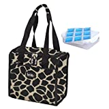 Nicole Miller 11 Insulated Lunch Tote with Sandwich Container and Ice Pack (Giraffe) by Nicole Miller