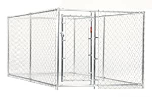 Lucky Dog 4-by-10-by-5 Foot CL41098 Easy Ship Chain-Link Box Kennel