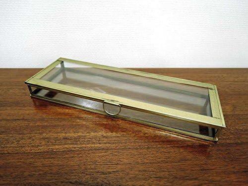 ガラスコレクションボックス ブラスレクタングルケース L アクセサリーケース ジュエリーケース ガラス 真鍮 アンティーク おしゃれ インテリア アジアン雑貨