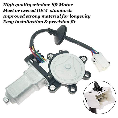 Window Lift Motor Front Left Driver Side for 2003-2009 Nissan 350Z 2003-2007 Infiniti G35 2 Door Coupe Model Replace # 80731-CD00A 80731CD00A