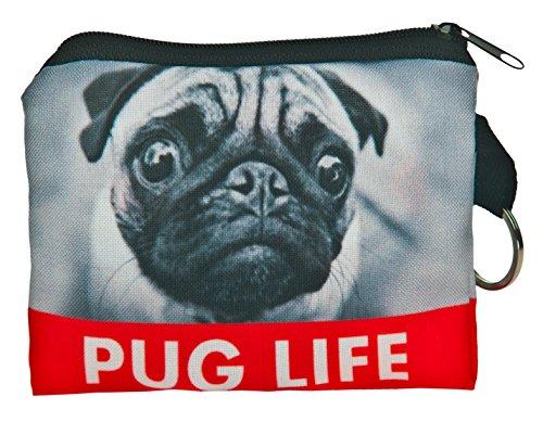 Carteras monedero de Kukubird Pug vida patrón diseño impresión Plaza