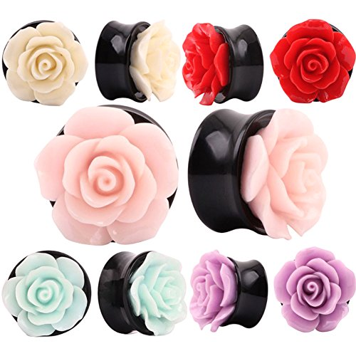partyfareast-10-pcs-rose-flower-ear-expander-tunnel-body-piercing-jewelry-8mm-16mm-0g-5-8-gauge10mm0