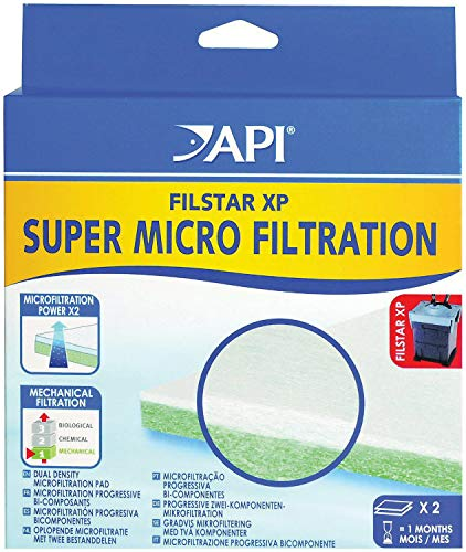 Filstar Micro Filtration Pads - API Filstar XP Filter Super Micro-Filtration Pads for Aquariums, 2 Count, 6 Pack