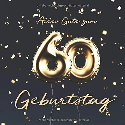 Alles Gute Zum 60 Geburtstag Gästebuch Zum Eintragen Mit 110