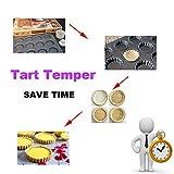 Tart Tamper Pastry Tamper Mini Pan Wood Wooden