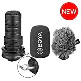 iPhone Directional Microphone Lightning, BOYA Digital Cardioid Stereo X/Y MFI Lightning Mic with Superb Sound for iPhone x 8 7 7plus iPad iPod Touch iOS Recording YouTube Video Vblog Livestream