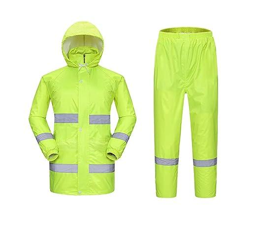 Traje de ropa de lluvia unisex Conjunto de pantalones de chaqueta ...