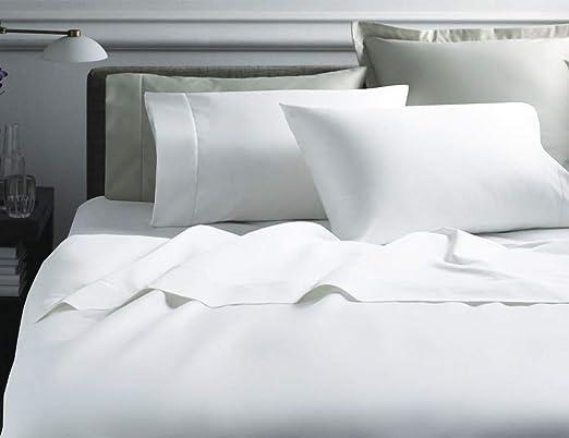 1000 TC 8,10,12,15 Inch Deep Pocket Silver Light Gray Striped Bedding Items
