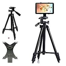 Professional Camera Tripod Mount Holder Stand for iPad mini 4 3 2 1-Black