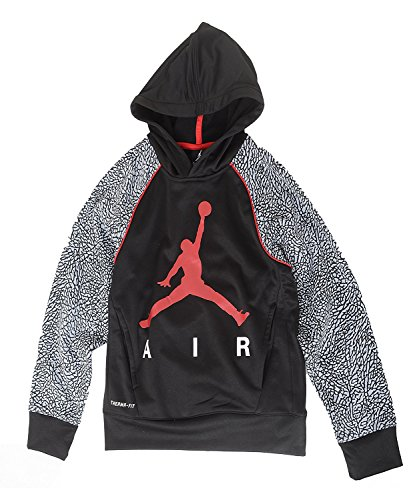 - Jordan Nike Jumpman Little Boys' Elephant Print Therma-Fit Pullover Hoodie (5/4-5 Yrs, Elephant Gray)
