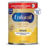 Enfamil Gentle Baby Formula Concentrated Milk, 13 fluid ounce (Pack of 12) - Omega 3 DHA, Probiotics, Iron, Immune & Brain Support Larger Image