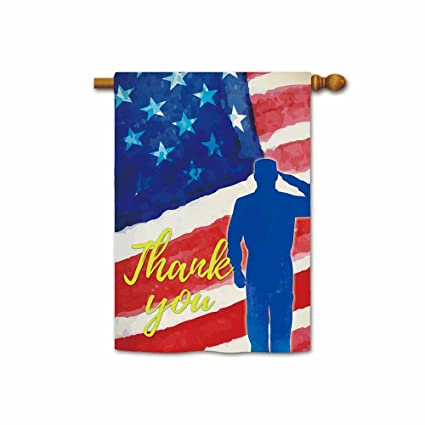 20ece6c75a4 Amazon.com   KafePross Thank You Veteran Patriotic House Flag American Flag  Memorial Day Banner 28