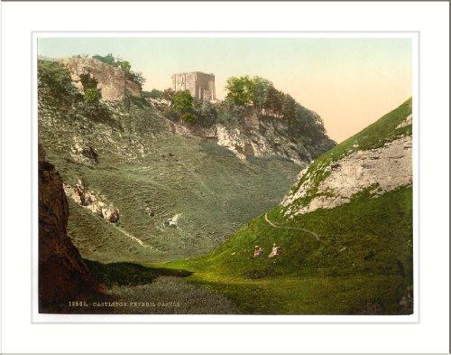 Peveril Castle Castleton Derbyshire England, c. 1890s, (L) Library ()