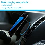 qi vent - 2-in-1 Qi Wireless Magnetic Car Charger Phone Mount – Universal Air Vent Holder – For iPhone X 8 Plus Samsung Galaxy Note 8 S8 Plus S7 S6 Edge Note 5 & Qi Enabled Devices – Compact & 360° Rotation