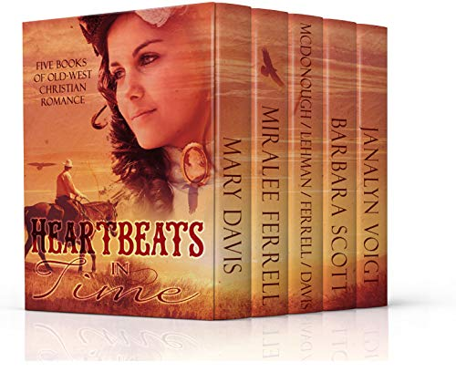 Heartbeats in Time: Five Novels of Old West Christian Romance by [Davis, Mary, Ferrell, Miralee, Scott, Barbara, Voigt, Janalyn, Davis, Susan Page, Lehman, Yvonne, McDonough, Vickie]