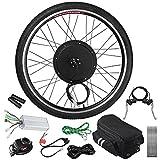 GHP 48V 1000W 470RPM Brushless Hub Motor & 26'' Front Wheel Bicycle Kit w Carrying Bag